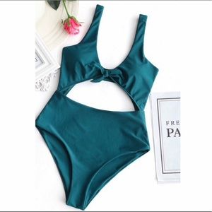 Zaful  bow front cut out one piece swimsuit only